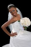 Beautiful African American Bride Portrait Royalty Free Stock Photo