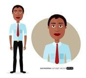 Beautiful African American business man with natural curly hair Stock Image