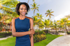 Beautiful African American businesswoman Royalty Free Stock Images