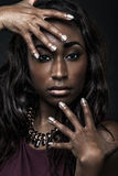 Beautiful African-American fashion model. Royalty Free Stock Images