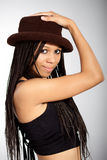Beautiful African-American girl Royalty Free Stock Photos