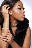 Beautiful African-American girl.2. Royalty Free Stock Photos