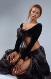 Beautiful African American model stock image