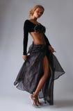 Beautiful African American model posing classy Stock Image