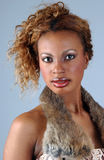 Beautiful African American model at the Studio Royalty Free Stock Image
