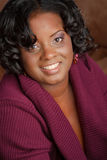 Beautiful African American Plus Size Model Royalty Free Stock Images
