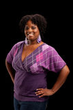 Beautiful African American Plus Size Model Stock Image