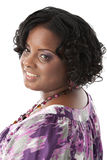 Beautiful African American Plus Size Model Headshot Royalty Free Stock Photo