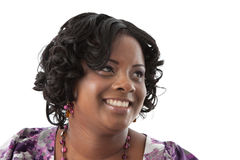Beautiful African American Plus Size Model Headshot Royalty Free Stock Photography