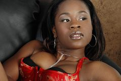 Beautiful African American woman Stock Photos