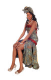 Beautiful African American woman in dress. Stock Image
