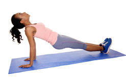 Beautiful African American woman exercising. Stock Images