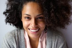 Beautiful african american woman face smiling Royalty Free Stock Photo