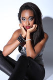 Beautiful african american woman glamour make up Stock Image