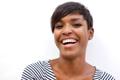 Beautiful african american woman laughing Royalty Free Stock Image