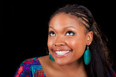 Beautiful African American woman looking up Stock Photos