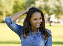 Beautiful African American woman Stock Images