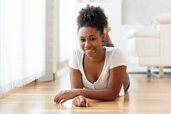 Beautiful African American woman portrait  - Black people. Beautiful African American woman portrait   Black people Stock Photos