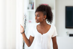 Beautiful African American woman portrait  - Black people Stock Images