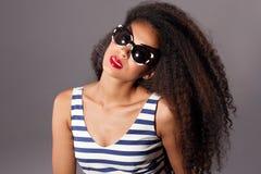 Beautiful african american woman posing. Royalty Free Stock Photos