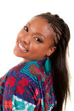 Beautiful African American woman smiling Stock Images