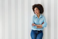 Beautiful African American woman smiling Royalty Free Stock Photo