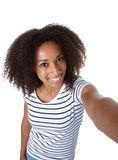 Beautiful african american woman taking a selfie Royalty Free Stock Images