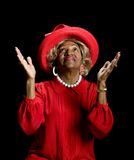 Beautiful African-American woman worshiping Royalty Free Stock Image