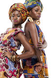 Beautiful African fashion modesl in traditional dress. Stock Images