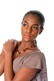 Beautiful African female face royalty free stock image