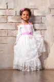 Beautiful african  girl as a little actress. Theatre, acting skills Royalty Free Stock Photo