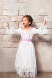 Beautiful african  girl as a little actress. Theatre, acting skills Royalty Free Stock Images