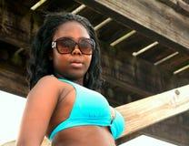 Beautiful African girl in bikini Stock Photo