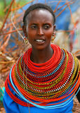 Beautiful African lady. Portrait of a happy African lady. Editorial use only stock image