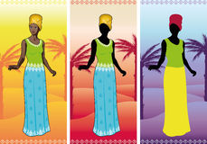 Beautiful african woman in authentic ethnic gown Royalty Free Stock Images