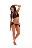 Black woman bikini Royalty Free Stock Photos