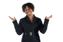 Beautiful African woman Businesswoman smiling Stock Photo
