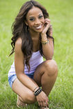 Beautiful african woman in the park Stock Photos