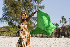 Beautiful african woman with scarf Royalty Free Stock Photography