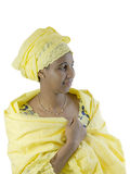 Beautiful African woman, traditional clothing, isolated Royalty Free Stock Photography