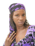Beautiful African woman wearing a traditional dress, Senegal Stock Images