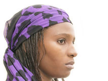 Beautiful African woman wearing a traditional dress, Senegal Royalty Free Stock Images