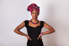 Beautiful african woman wearing a traditional headscarf Royalty Free Stock Photography