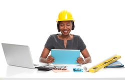 African-American business woman. stock image