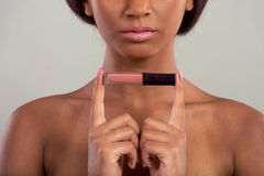 Beautiful Afro American girl Royalty Free Stock Photography