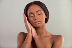 Beautiful Afro American girl Stock Photos