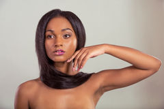 Beautiful Afro American girl Stock Images