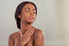 Beautiful Afro American girl Royalty Free Stock Photo
