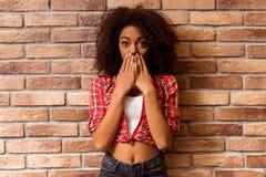 Beautiful Afro-American Woman Stock Photos