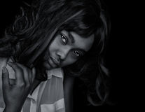 Beautiful Afro American Woman Royalty Free Stock Photo